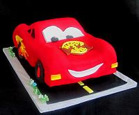 Cars Children Birthday Cake Front