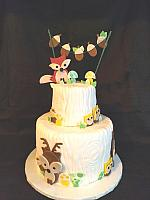 WoodlandsThemeBabyShowerCakeMain