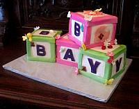 Giant Baby Blocks Cake