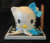 Hello Kitty Carved Head Cake