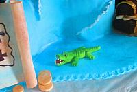 Edible Gumpaste Alligator Close Up