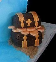 Edible Gumpaste Pirates Treasure Close up