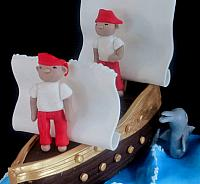 Edible Pirates And Edible Sails Close up