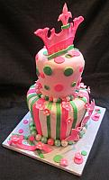 Princess Baby Shower Or Birthday Whimsical Fondant Cake