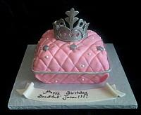 Princess Theme Pillow Cake with Silver Crown