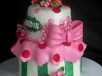 StrawberryShortcakeCharacterCakeCloseUpBow