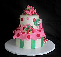 StrawberryShortcakeCharacterCakeLeftSide