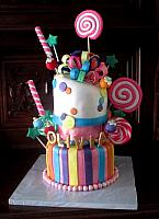 Whimsical Candy Theme Cake for Olivia