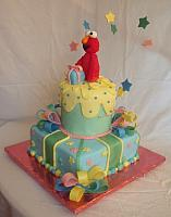 Elmo On Whimsical Cake side view