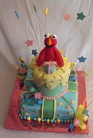 Elmo On Whimsical Cake Main top view