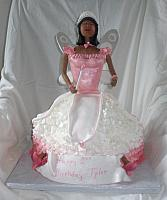 Fairy Princess Cake for baby's birthday front view