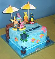 Backyardigans At The Beach Cake view 2