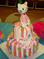 Hello Kitty Baby Shower Cake view 1