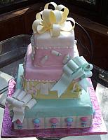 Baby Shower Cake as Tiered Present Cake