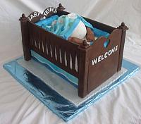 Baby Bottom in Baby Crib Cake for Baby Shower main view