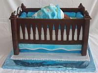 Baby Bottom in Baby Crib Cake for Baby Shower side view
