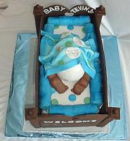 Baby Bottom in Baby Crib Cake for Baby Shower cake top