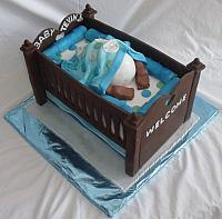 Baby Bottom in Baby Crib Cake for Baby Shower view 2