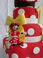 Minnie Mouse Gumpaste Figurine Close Up