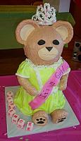 BGiant Carved Teddy Bear Fondant Cake With Tiara view 1