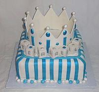 Baby Shower Crown For Boy Fondant Cake