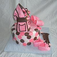 Baby Shower Juicy Couture Diaper Bag Fondant Cake view 1
