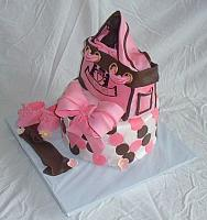 Baby Shower Juicy Couture Diaper Bag Fondant Cake view 2