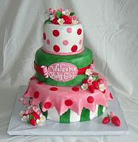 Strawberry Shortcake Baby Shower For Girl Fondant Cake