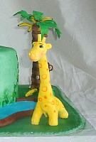 Gumpaste Giraffe Figurine close up