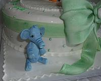 Edible Gumpaste Elephant Figurine close up