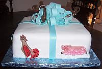 Baby Shower Present Cake With Farm Animals