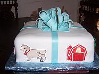 Baby Shower Present Cake With Farm Decorations