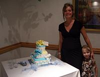 Baby Boy Present Cake with Guest of Honor