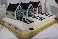 Thomas the Train Cake for 3-year-old Caleb