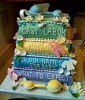 Baby Books Cake Front view