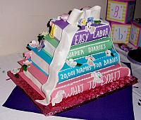 Baby Books Stacked for Baby Shower