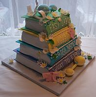 Baby Shower Cake Baby Books Side view