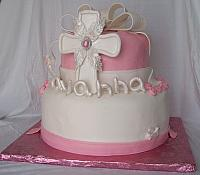 Christening Cake For Savanna Dauria side view