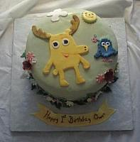 Moose And Zee Cake top view