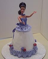 Doll Cake with Purple trim