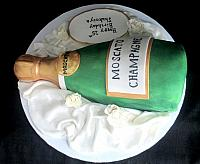 Moscato Champagne Bottle Cake