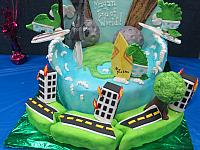 End Of World Mayan 2012 Cake Earthquake Road Buckling Close Up