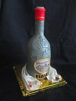 Moscato Wine Bottle Fondant Cake With Edible Jewels