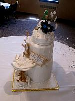 RetirementBirthdayPriestVicarCakeSide2ViewAtBishopHickeyConferenceCenter