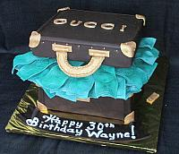 Suitcase Full Of Money Gucci Themed Birthday Cake