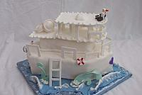 fancy boat cake - double decker boat