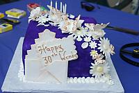 Butterfly, Flowers on Purple Cake