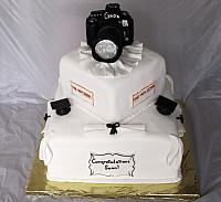 Graduation Cake With Photography Hobby view 2