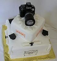 Graduation Cake With Photography Hobby top view