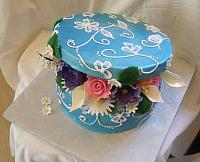 Blue Box with Gumpaste Flowers